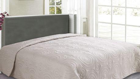 Přehoz na postel REFLECTION 160x200 cm krémová ESSEX