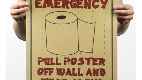 Vtipný plakát na WC První pomoc 51 x 35 cm