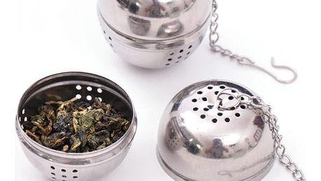Kulaté sítko na čaj s řetízkem - dodání do 2 dnů