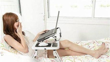 Praktický stoleček pod notebook e-table