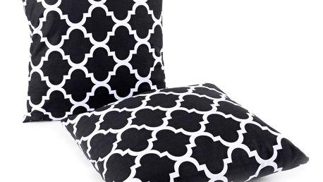 Bavlněný polštář ORNAMENTS černá 40x40 cm, Mybesthome Varianta: Povlak na polštář, 40x40 cm