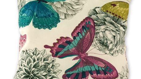 Jahu Povlak na polštářek Klasic motýl růžová, 45 x 45 cm