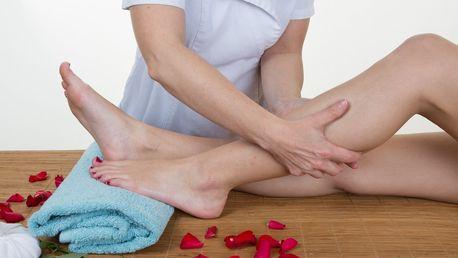 Uvolňující manuální lymfatická masáž nohou