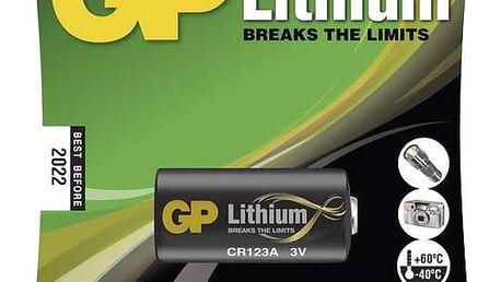 GP, lithium, CR123A, 1450mAh, 1ks - 1022000111