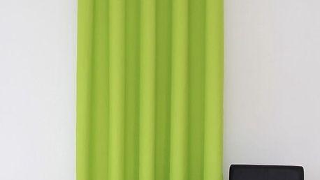 Dekorační závěs 09 zelená 160x250 cm MyBestHome Varianta: závěsy - 2 kusy 160x250 cm