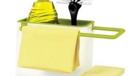 Bílo-zelený kuchyňský stojánek na mycí prostředky Joseph Joseph Caddy Sink Tidy - doprava zdarma!