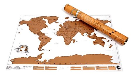Seškrábavací mapa světa Ambiance Scratch Map, 88 x 52cm - doprava zdarma!