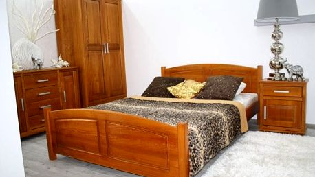 Postel z masivu Zyta 140x200 cm borovice + rošt olše