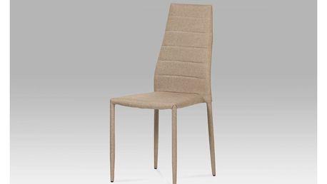 Jídelní židle, látka cappuccino