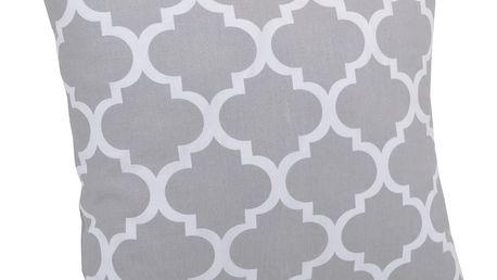 Bavlněný polštář ORNAMENTS šedá 40x40 cm, Mybesthome Varianta: Povlak na polštář, 40x40 cm