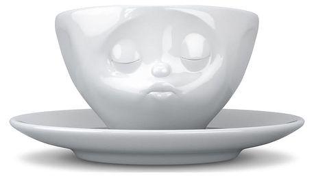 Bílý líbající hrnek na kávu 58products - doprava zdarma!