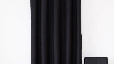 Dekorační závěs 01 černá 160x250 cm MyBestHome Varianta: závěsy - 2 kusy 160x250 cm
