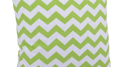 Bavlněný polštář WAVES zelená 40x40 cm, Mybesthome Varianta: Povlak na polštář, 40x40 cm