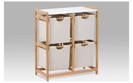 Regál bambusový 4-šuplíky (šuplíky v šedivé barvě) DR-016A Autronic
