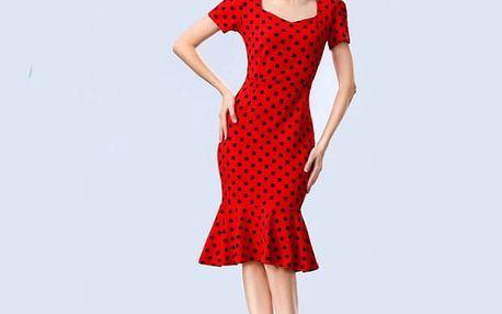 Dámské šaty s krátkým rukávem a volánky na sukni - 6 variant