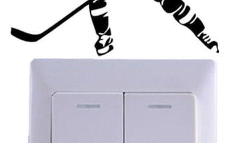 Samolepka nad vypínač pro hokejové fanoušky
