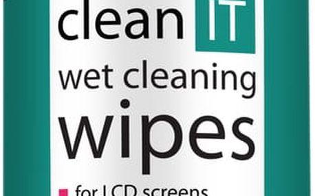 Clean IT čistící ubrousky mokré na LCD/TFT, 100ks