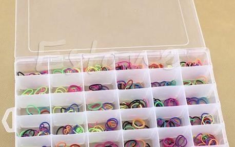 Velký plastový organizační box - 36 přihrádek