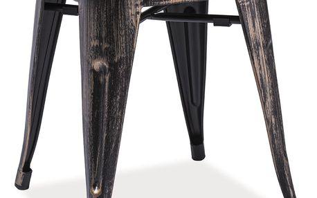 Kovový taburet - stolek SPOT černá přetíraná