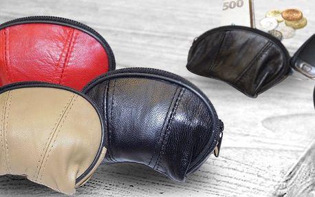 Barevné kožené peněženky na drobné