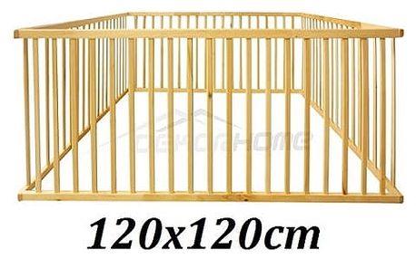 Dřevěná ohrádka Sisi 120x120x65cm