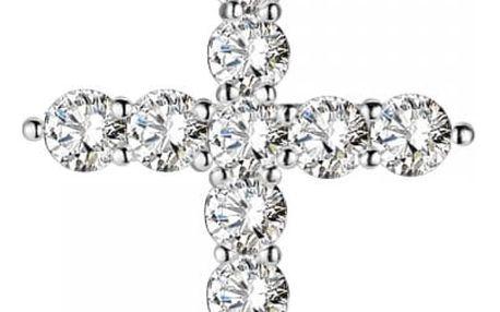 Řetízek se třpytivým přívěškem kříže