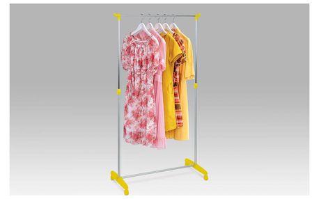 Stojan na šaty, žlutá / chrom 51379 YEL Autronic