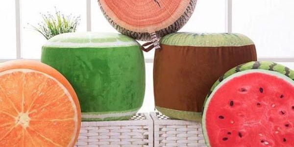 Originální nafukovací taburet Ovoce