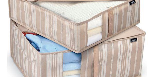 Sada 2 úložných boxů Domopak Stripes - doprava zdarma!