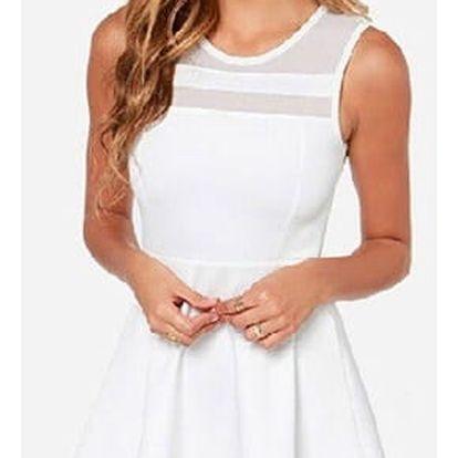Minimalistické šaty s áčkovou sukní - dvě barvy