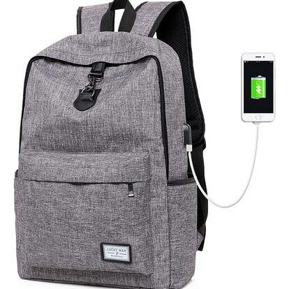 Studentský nabíjecí batoh - 3 barvy