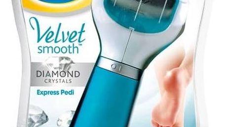 Elektrický pilník na chodidla Scholl Velvet Smooth Diamond modrý Denní krém na paty Scholl Velvet Smooth 60 ml (zdarma)