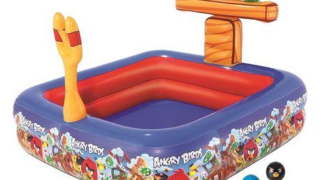 Hrací set Bestway herní centrum Angry birds s bazénem, 147 x 147 x 91 cm