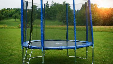 FAST JUMP modrá trampolína 305 cm + ochranná síť + žebřík