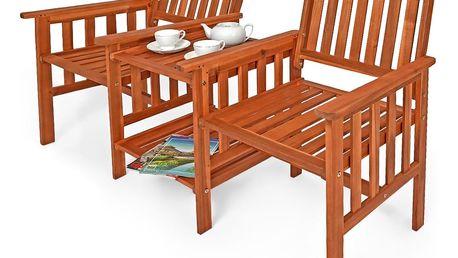 Zahradní lavička se stolem Dekorhome