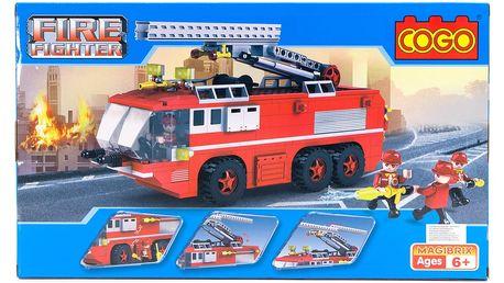 Stavebnice COGO Hasičské auto - FIRE FIGHTER, 424 ks