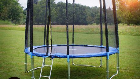 GoodJump Trampolína 400 cm s ochrannou sítí + žebřík