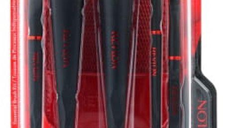 Revlon ExpertFX Essential Brush dárková kazeta pro ženy štětec na tvářenku 1 ks + štětec na make-up 1 ks + štětec na oční stíny 1 ks + štětec na oční stíny 1 ks + štětec na kouřové líčení očí 1 ks + pouzdro
