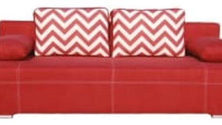 FAMM Marika 3R červená rozkládací pohovka s úložným prostorem