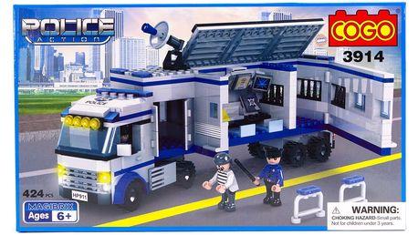 Stavebnice COGO Mobilní policejní stanice, 424 ks