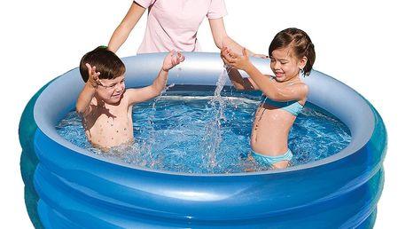 Dětský bazén Metallic 150x53cm s nožní pumpou