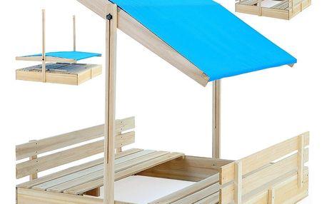 Pískoviště s integrovanými lavičkami Dekorhome