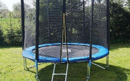 3UPE trampolína 244 cm s ochrannou sítí + žebřík