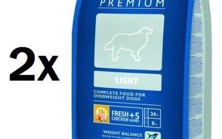Granule Brit Premium Dog Light 2 x 15 kg + Doprava zdarma