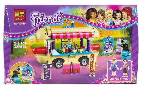 Stavebnice BELA Friends - zábavní park se stánkem Hot Dog, 249 ks