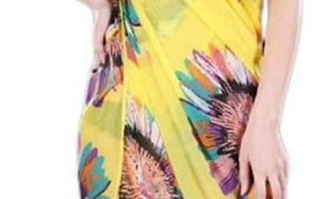 Letní bohémské zavinovací šaty přes plavky