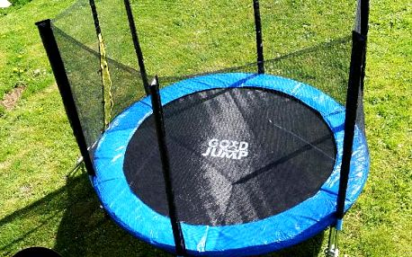 GoodJump 3UPE trampolína 244 cm s ochrannou sítí + žebřík