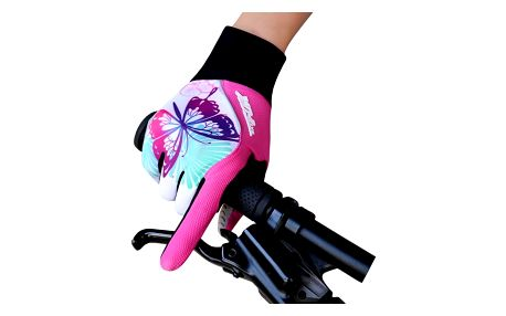Dámské cyklistické rukavice s motýlkem
