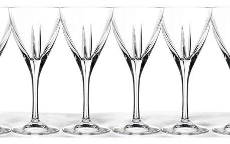 6 křišťálových sklenic 250 ml RCR Fusion