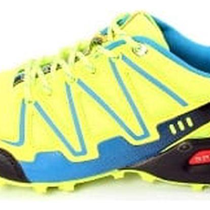 Kvalitní pánské běžecké boty TOP PLAY svítivě zelené